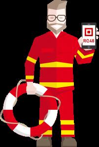 Figur_DLRG_(mit_Smartphone)